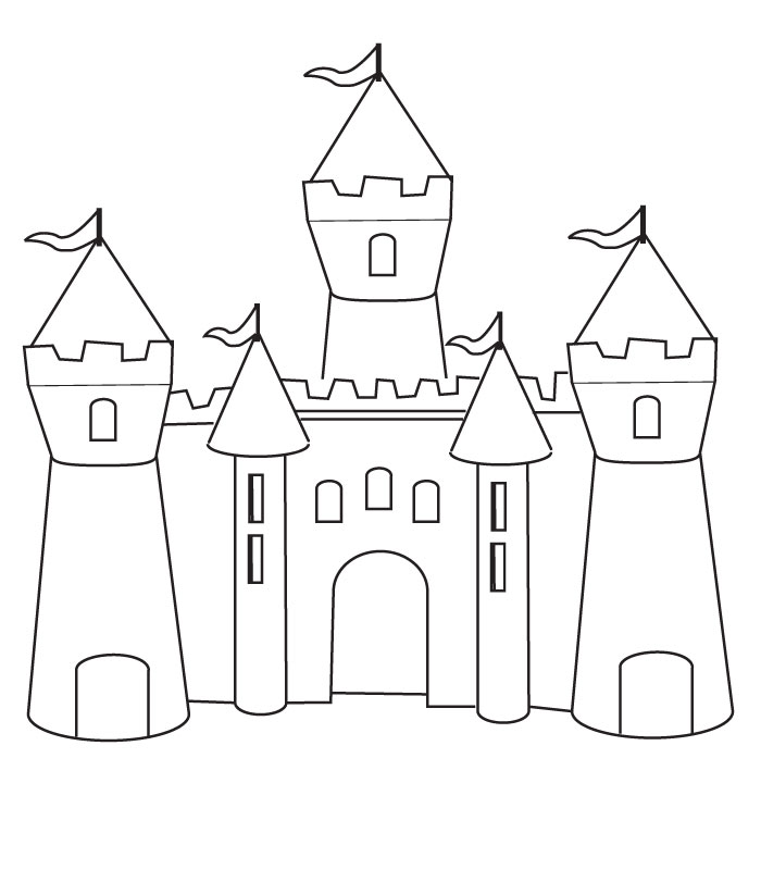 free coloring pages of castles - photo#5
