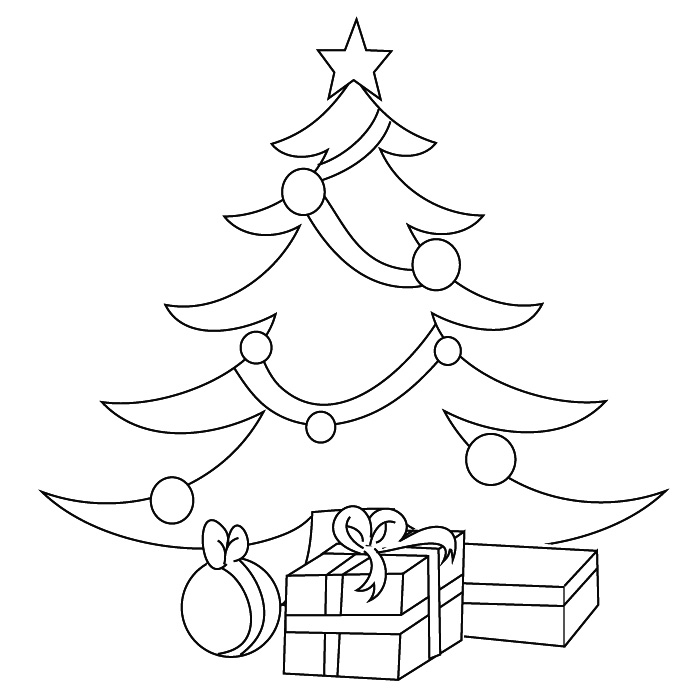 coloring christmas tree