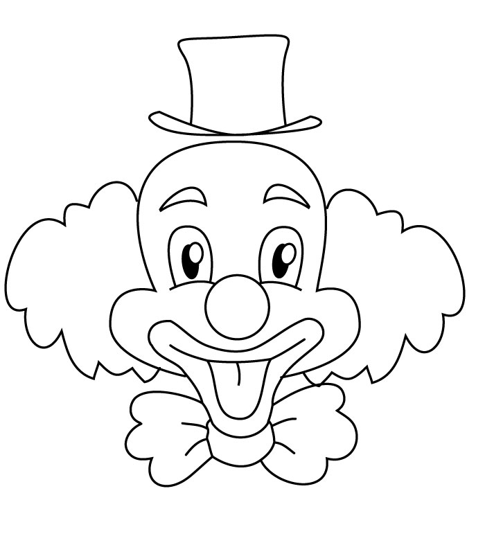 clown faces coloring pages - photo#5
