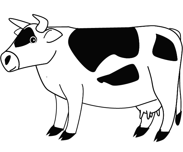 Cow coloring picture - photo#6