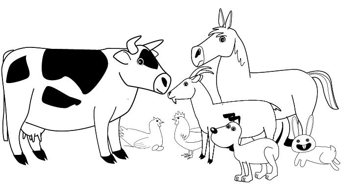 coloring farm