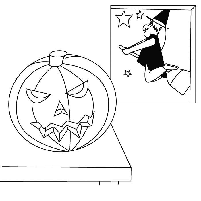 coloring halloween