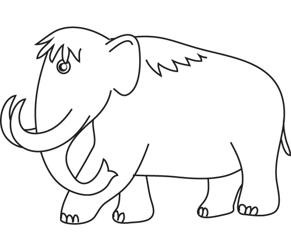 Woolly mammoth ice age for Wooly mammoth coloring page
