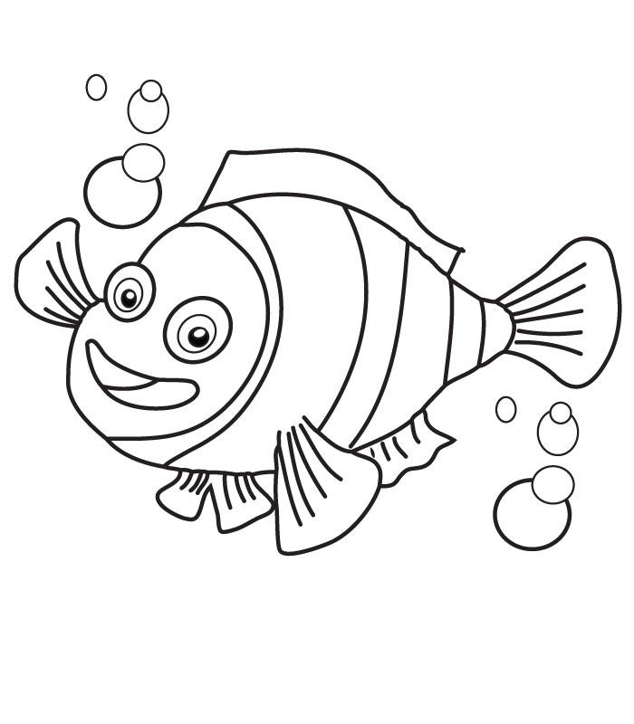 Nemo Fish Drawings Coloring Nemo