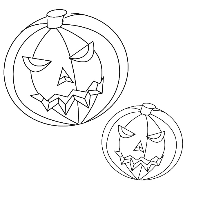 coloring pumpkin