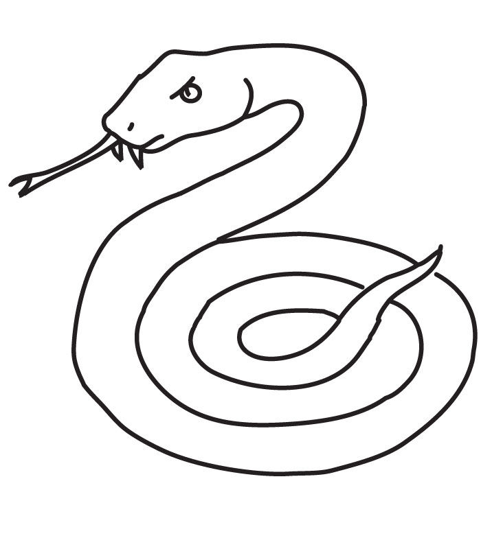 s is for snake coloring pages - photo #41