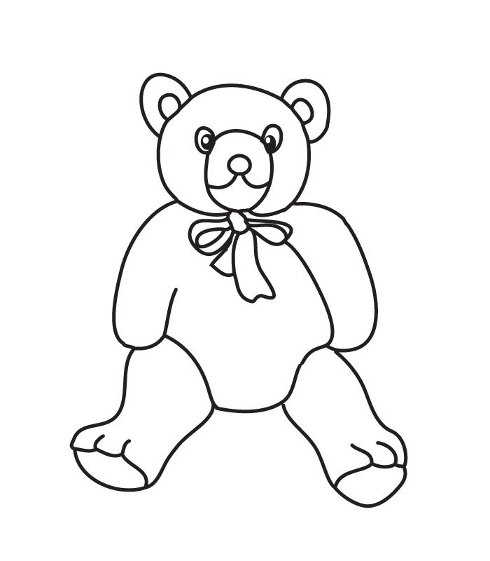 coloring teddy-bear