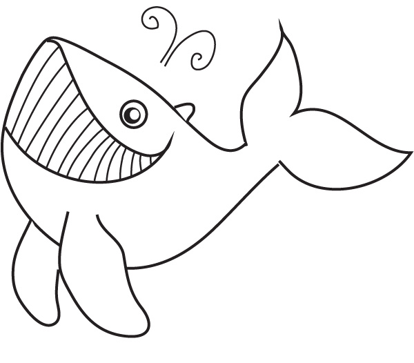 coloring whale - Coloring Picture Of A Whale
