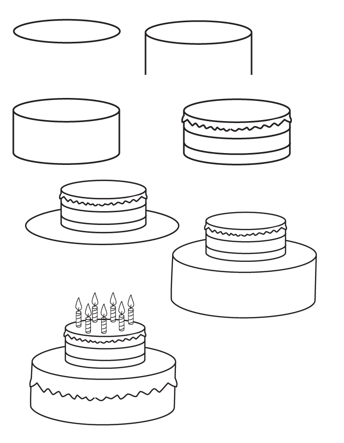 drawing birthday-cake