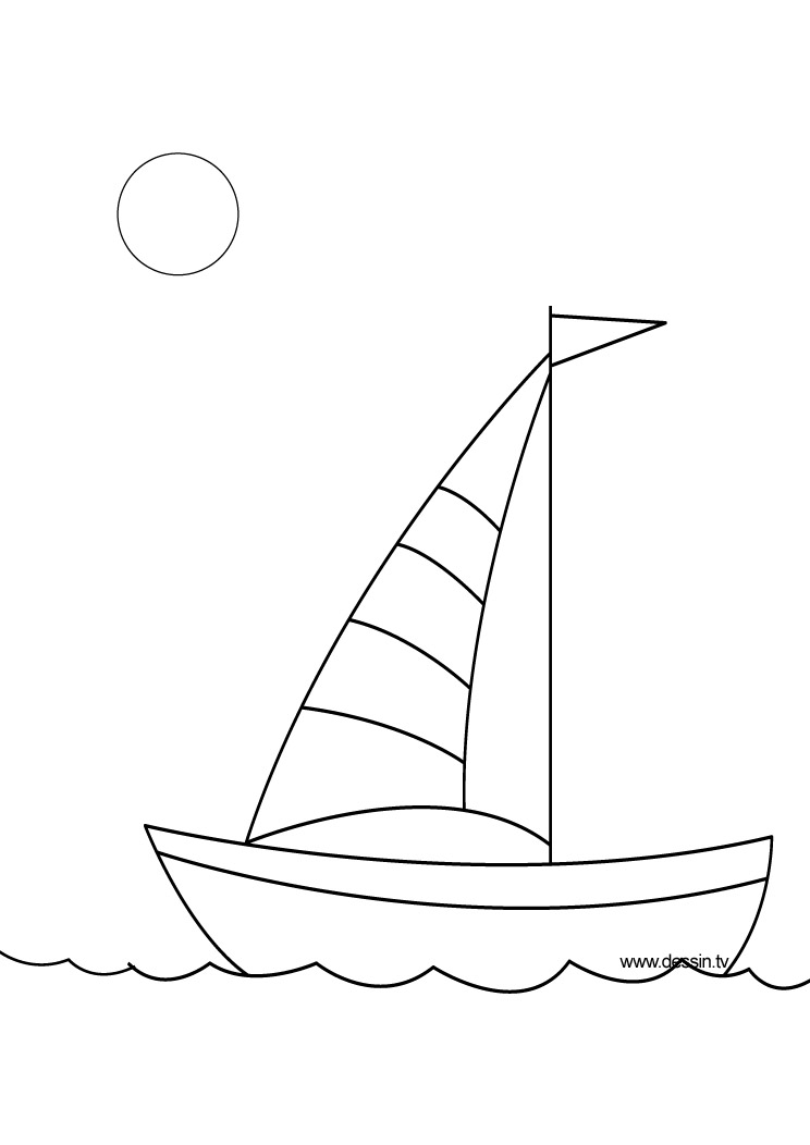 coloring boat