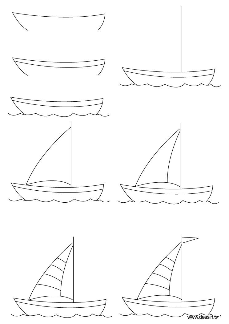drawing boat
