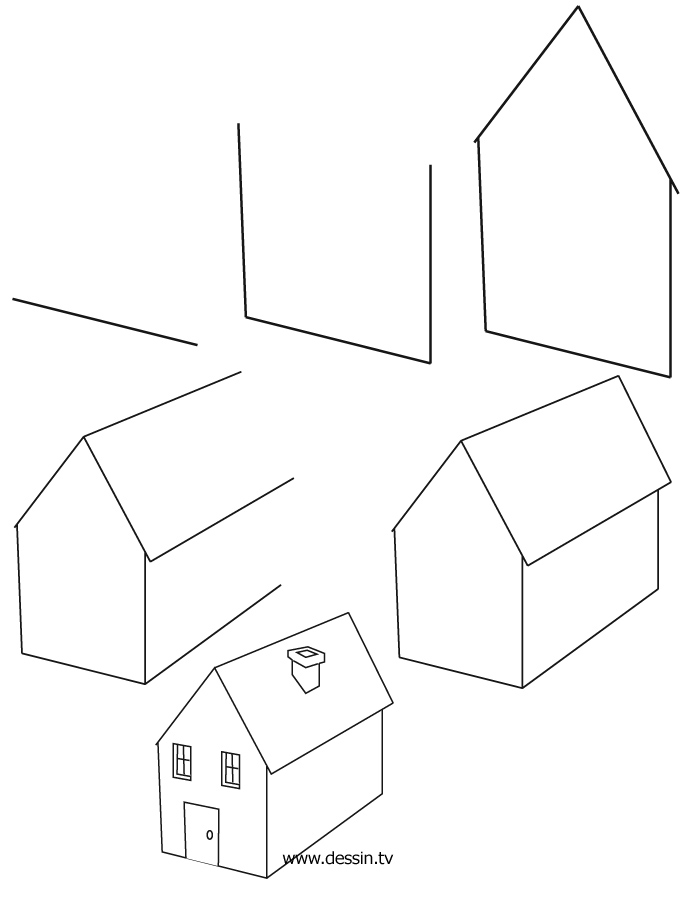 Drawing house 3d house drawing