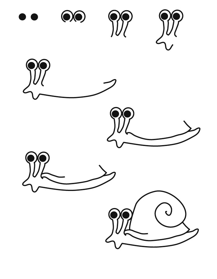 drawing snail