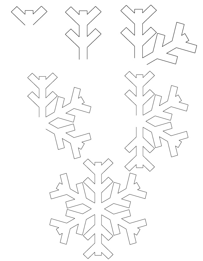 Learn how to draw a snowflake with simple step by step instructions