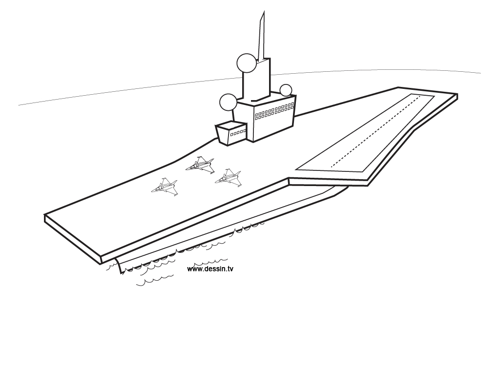 aircraft carrier coloring page - how to draw aircraft carrier