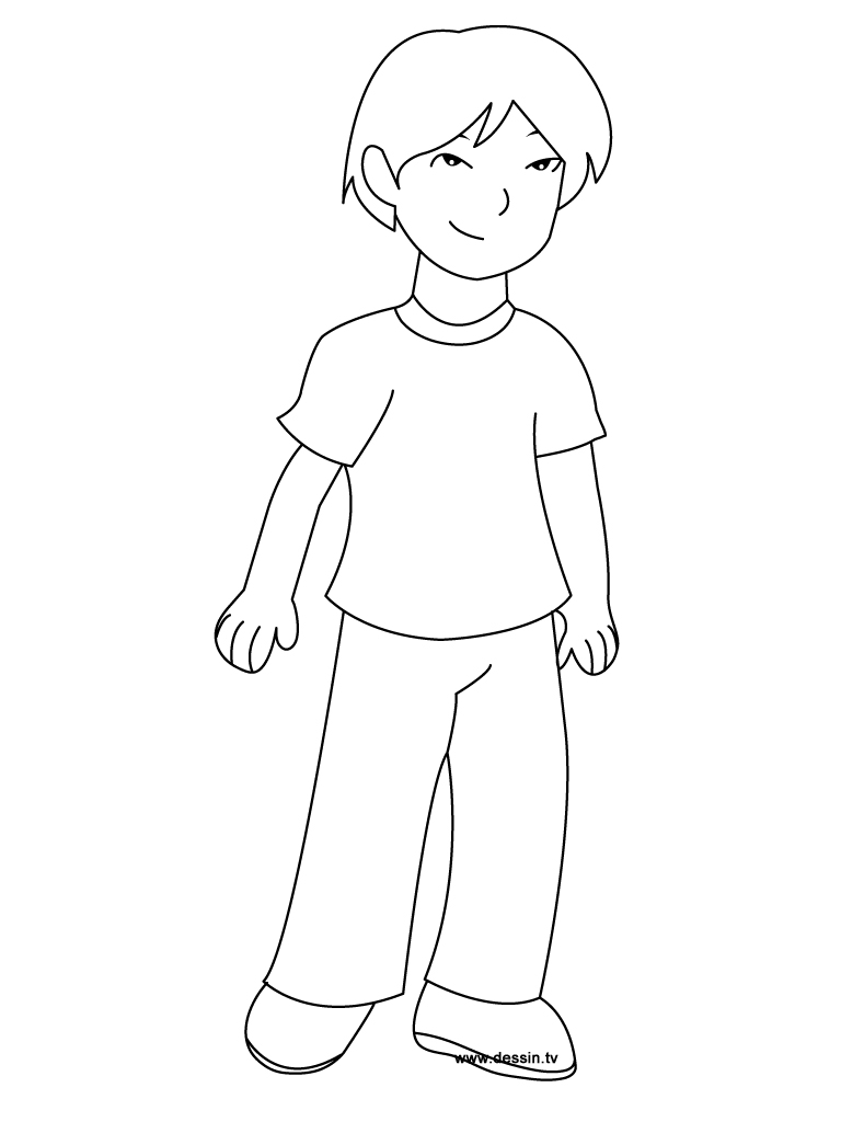 a boy coloring pages - photo #6