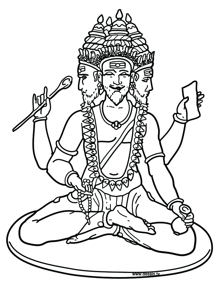 hindu gods printable coloring pages - photo#9