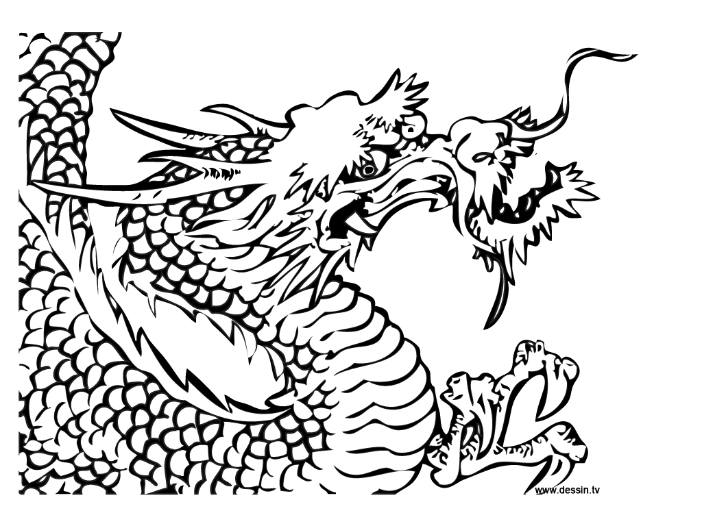 chinesse dragon coloring pages - photo#8