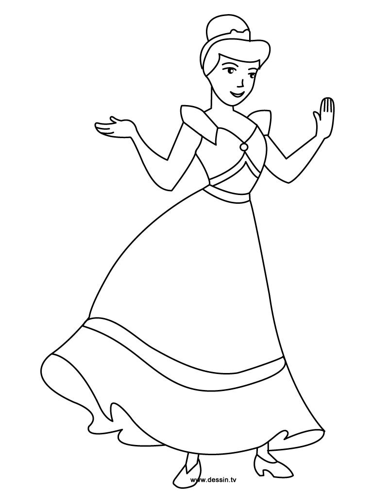 coloring cinderella