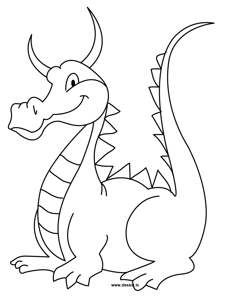 coloring dragon