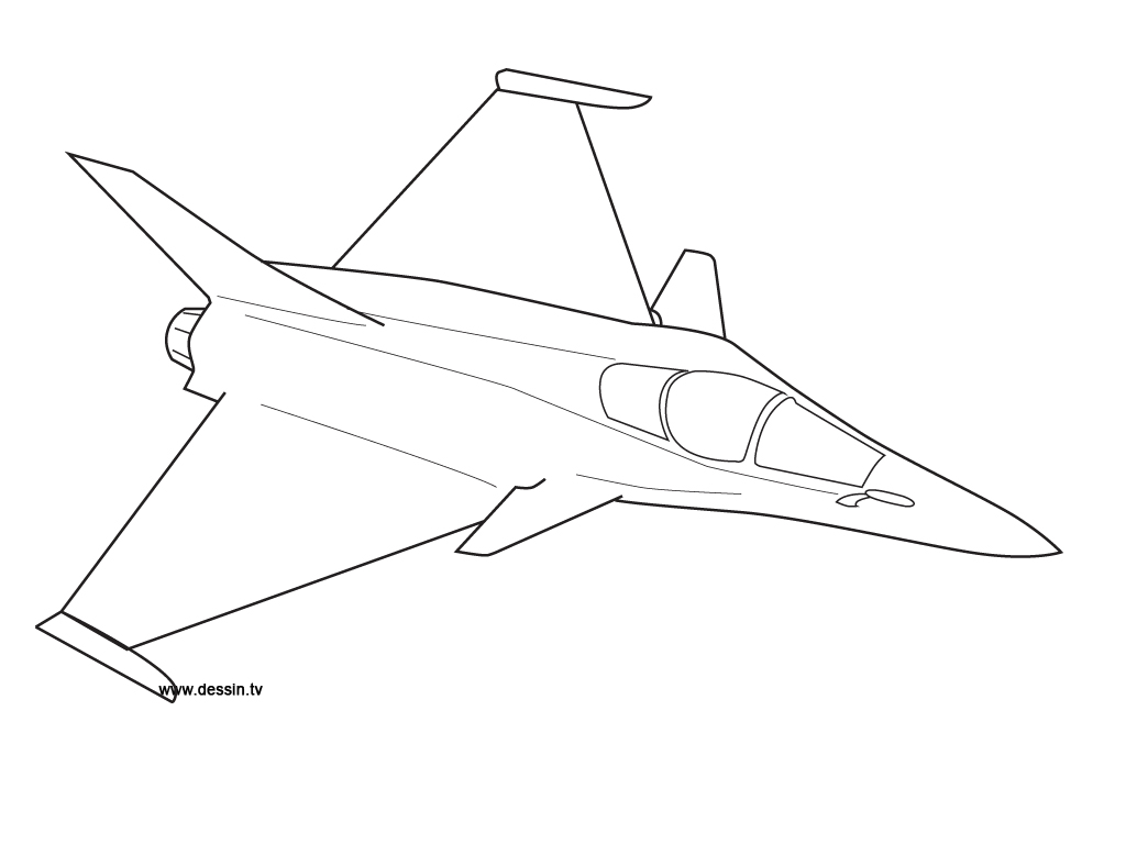 coloring fighter plane