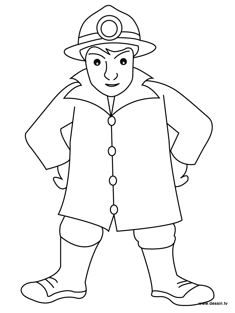 fire man coloring pages - photo#19
