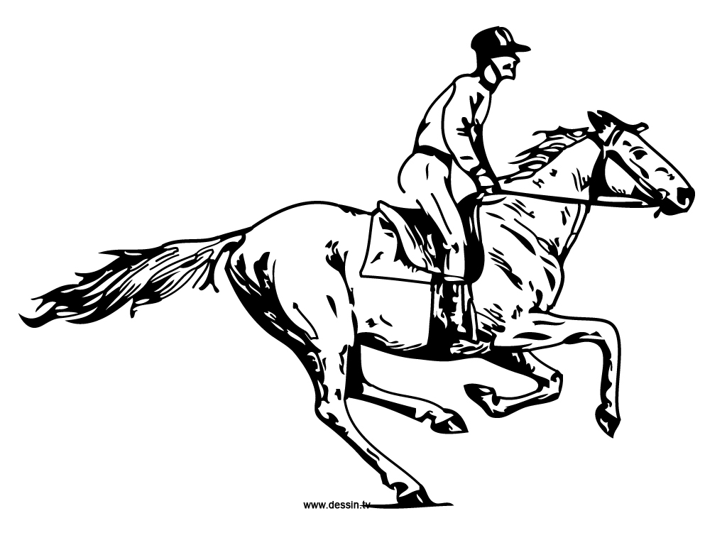 coloring galloping-horse