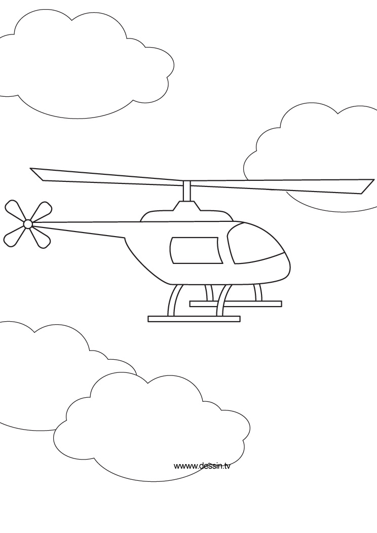coloring helicopter