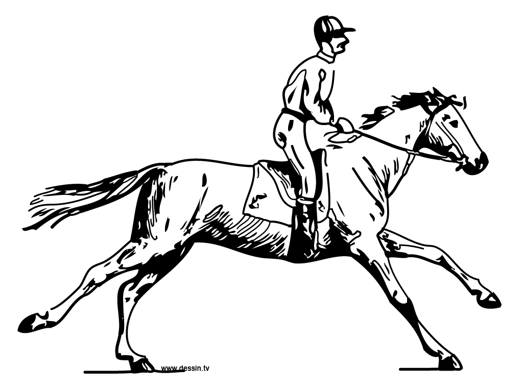 coloring horse-with-horseman