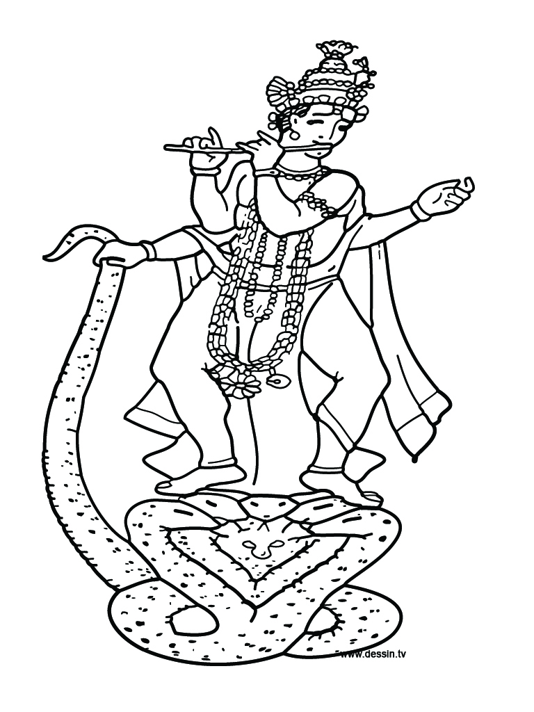 krishna pages for coloring - photo#15