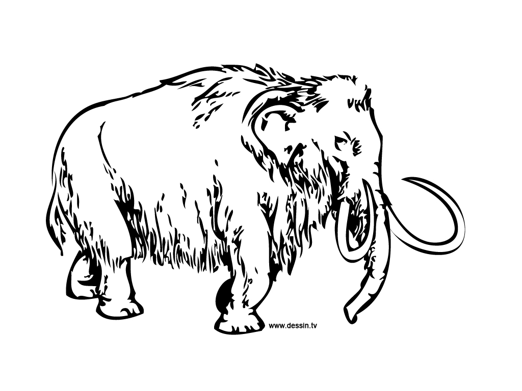 Coloring mammoth for Wooly mammoth coloring page