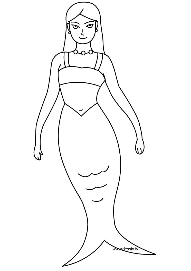 coloring mermaid