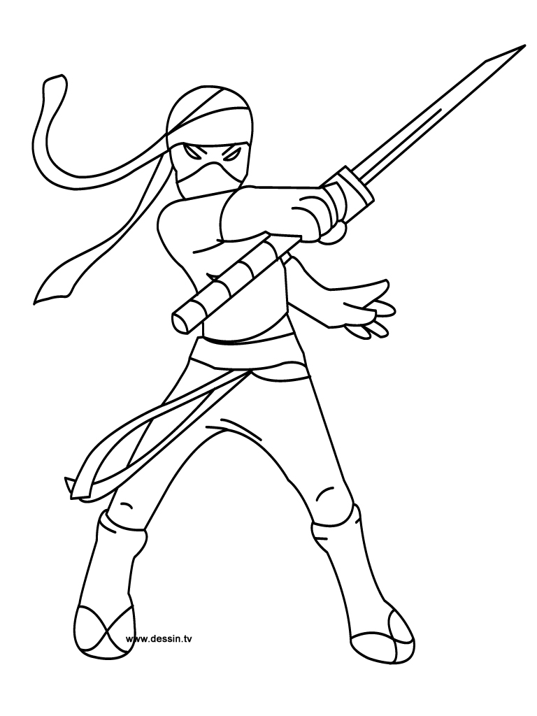 Coloring ninja for Coloring pages of ninjas