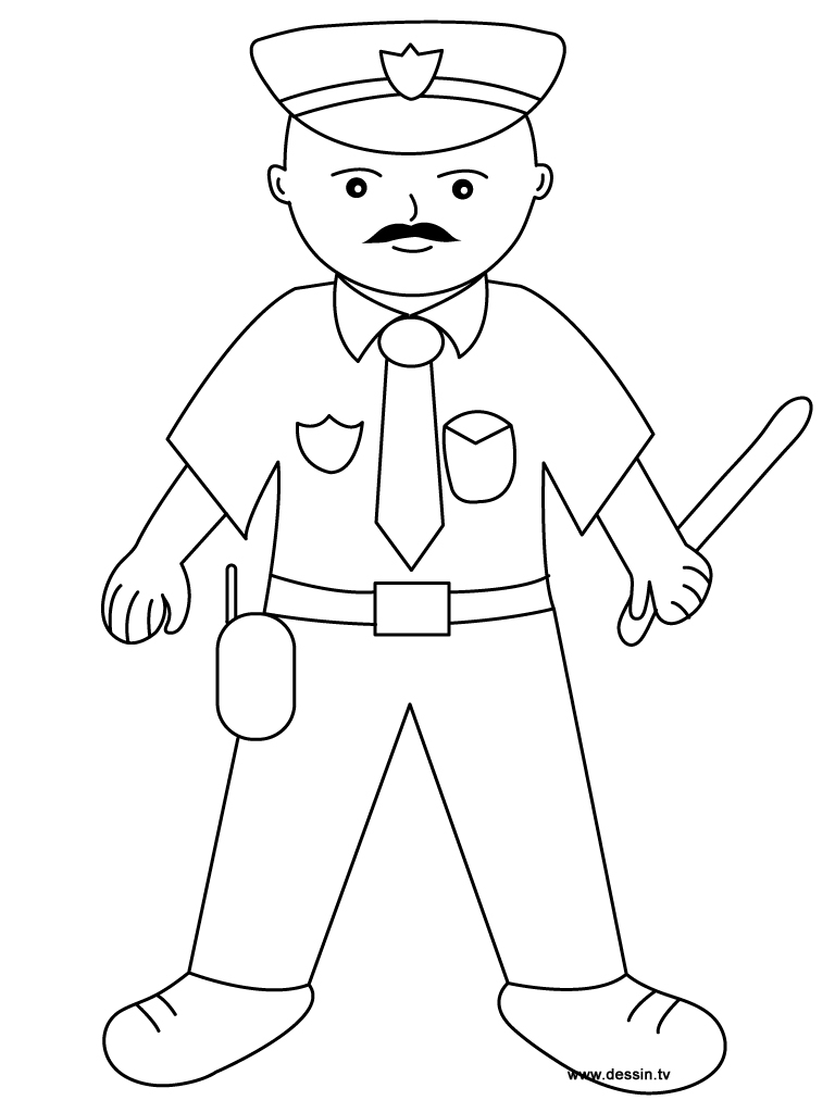 policeman coloring pages kids - photo#10