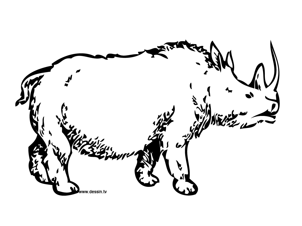 Coloring Pages Of Prehistoric Animals : Coloring prehistoric rhino