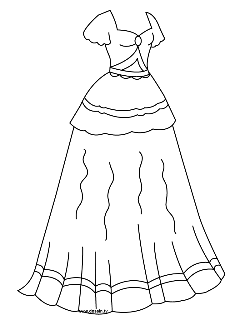 coloring princess-dress