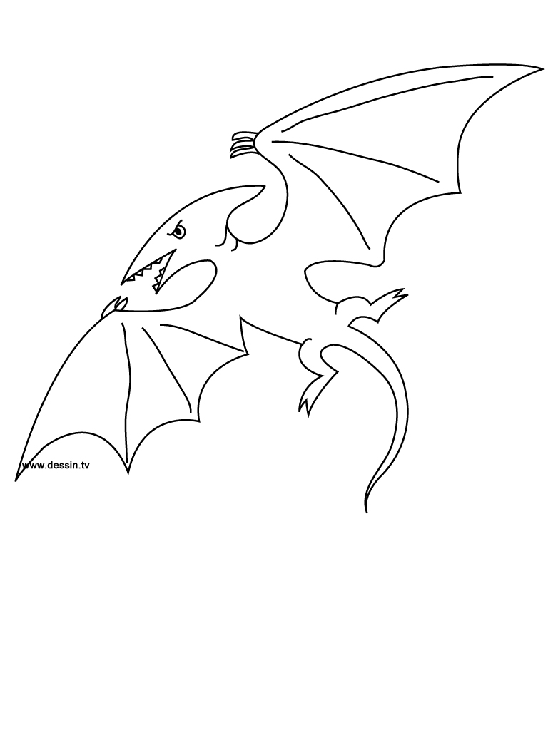 coloring pterodactyl