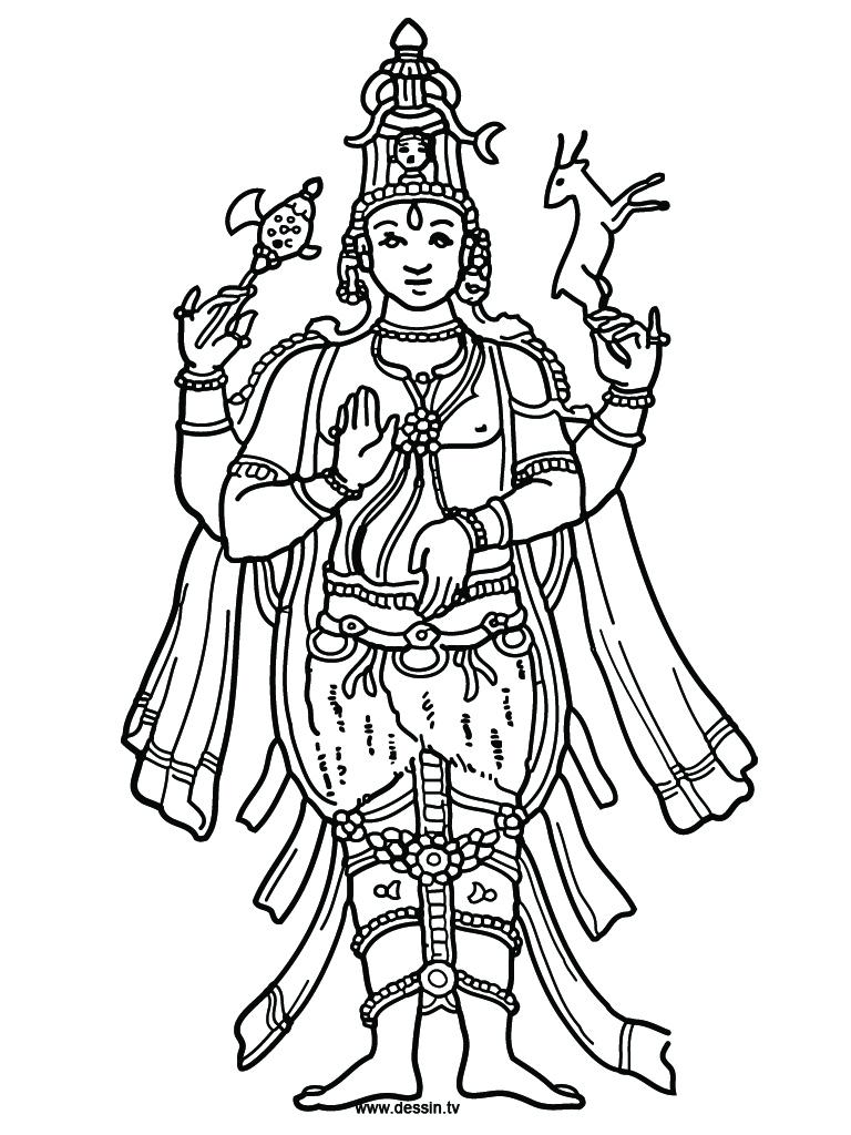 lord vishnu coloring pages - photo#13