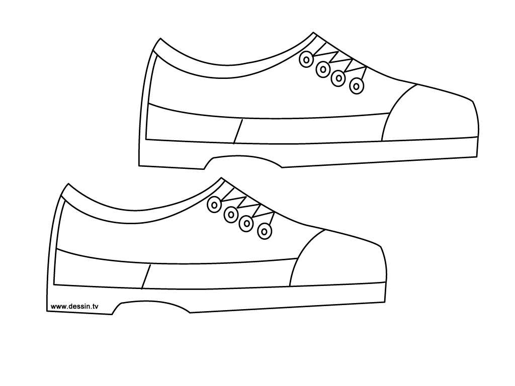 shoes coloring page - coloring shoes