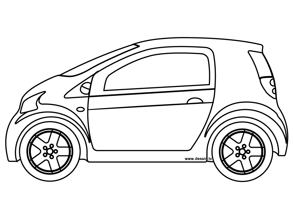 coloring small-car