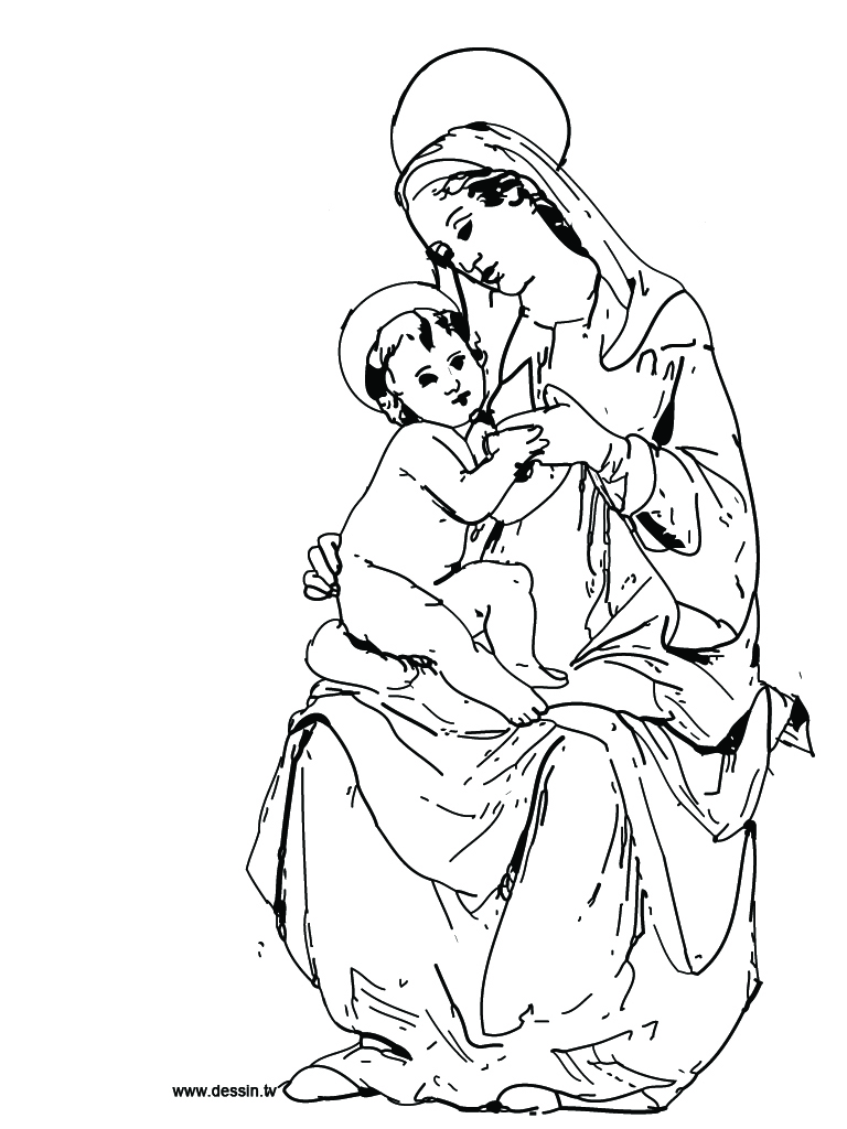 Printable coloring pages virgin mary - Coloring Virgin Mary