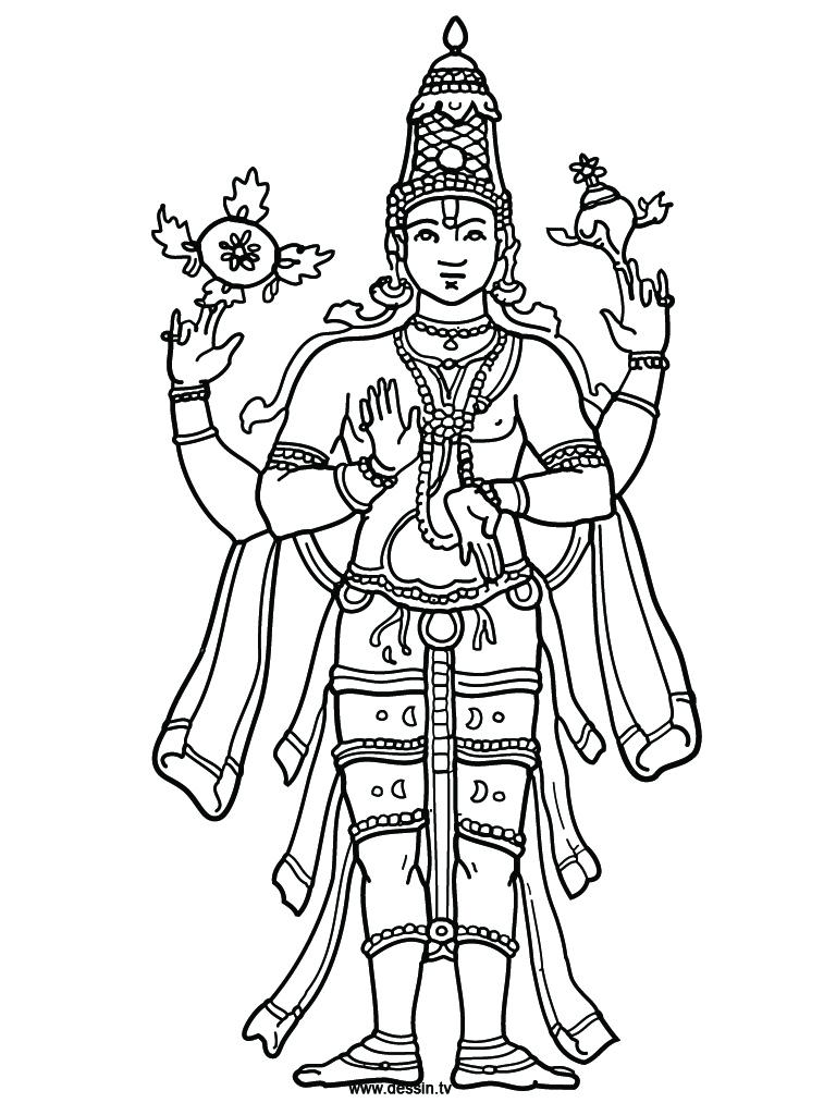 lord vishnu coloring pages - photo#3