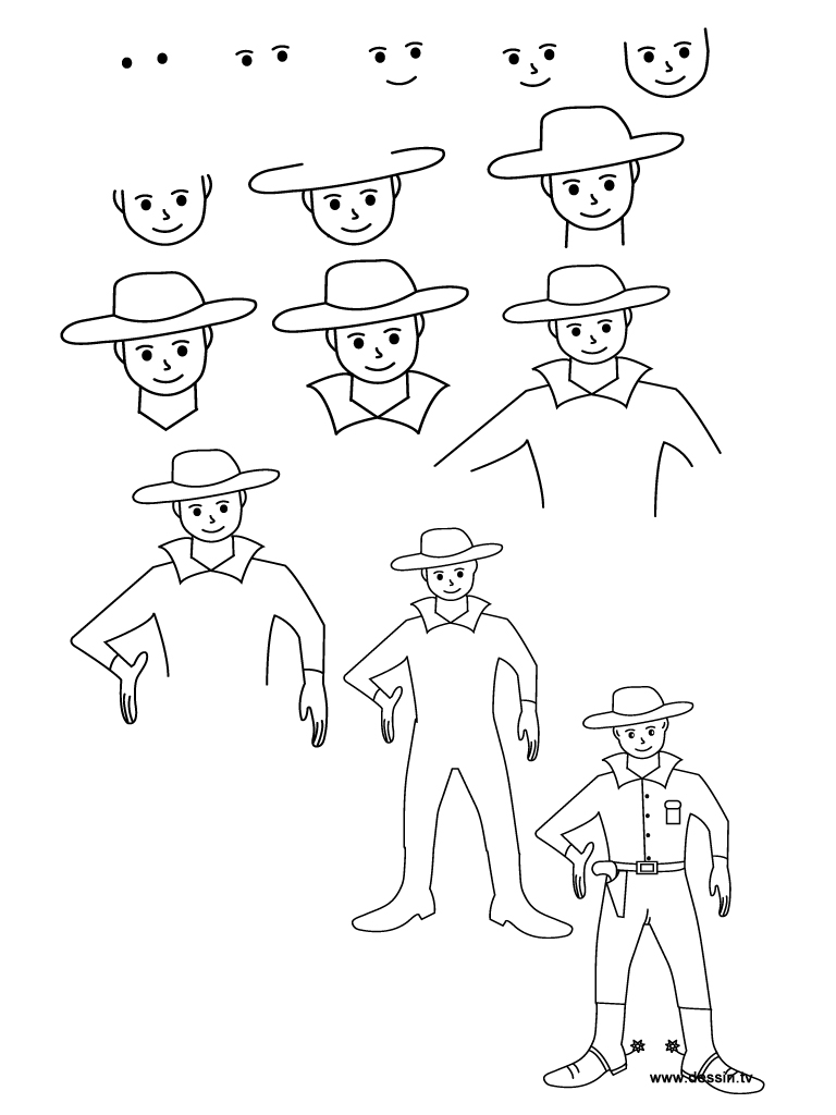 cowboy drawing easy photo3