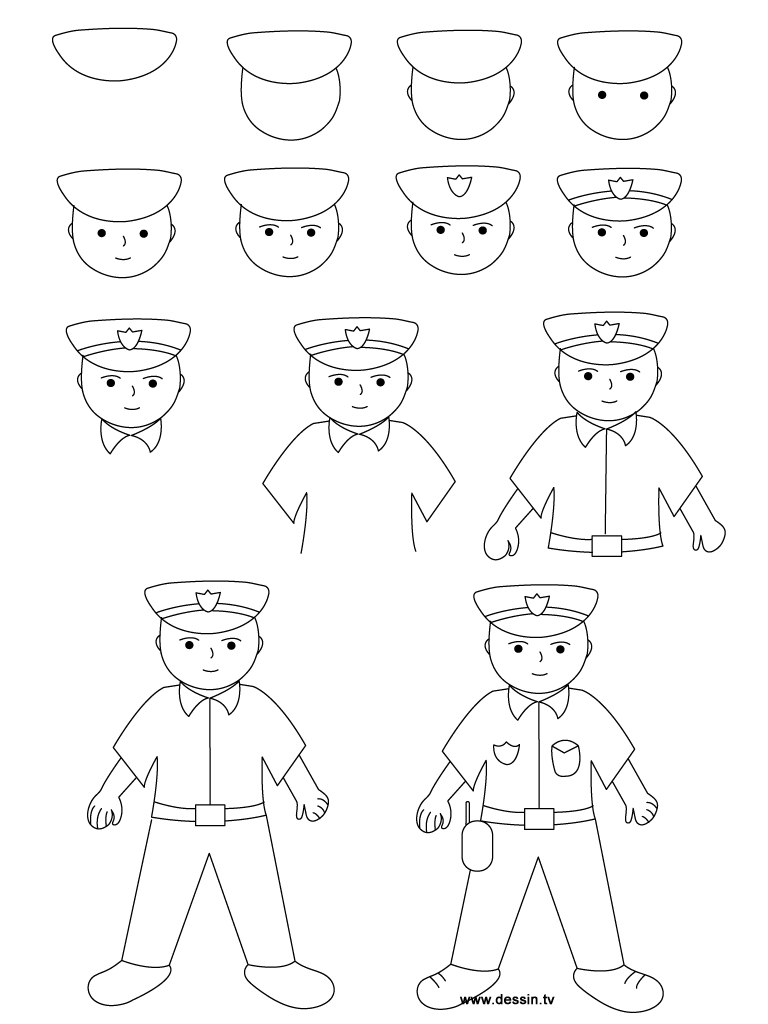 Drawing policeman