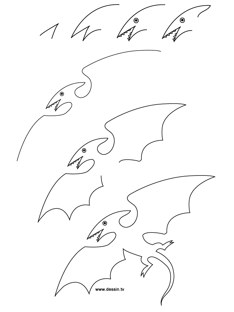 drawing pterodactyl