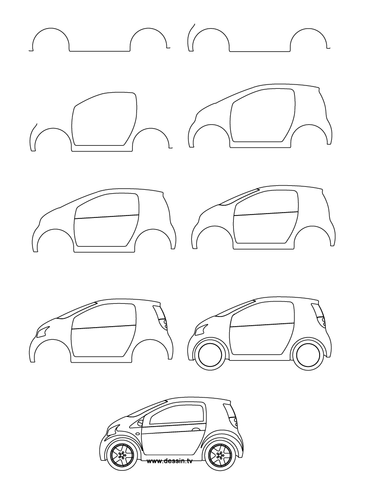 drawing small-car