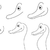 Drawing seahorse