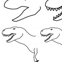 Drawing tyrannosaurus