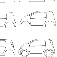 Drawing small car