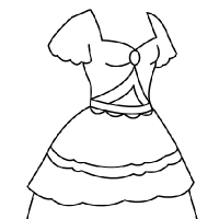 Coloring princess dress